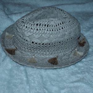 Grey tassel summer hat